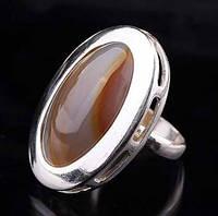 Женское серебряное кольцо (агат)