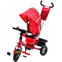 Трёхколёсный детский велосипед Azimut Trike BC-17B AIR на надувных колёсах Красный