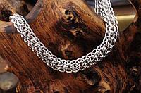Серебряная цепочка, плетение Питон