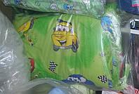 Защита для детской кроватки зелёная Тачки