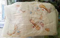 Защита для детской кроватки молочно бежевая Веселый жираф