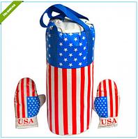 """Боксерский набор большой """"Америка"""" с перчатками"""