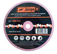 Диск Дніпро-М заточной для цепи 100х10х3.2 (68090000)