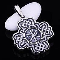 Серебряный православный крест (чернение)