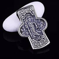 Серебряный православный крестик (чернение)