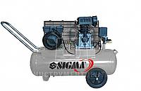 Компрессор двухцилиндровый ременной SIGMA 7044121 50л