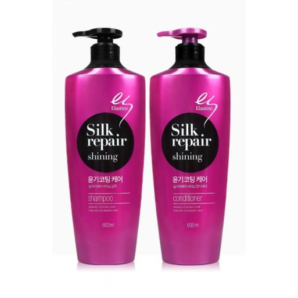 Ополаскиватель для волос с эластином и протеинами шелка LG Household & Healt Elastine Silk Repair 7 (600 мл)