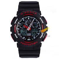 Спортивные часы Casio G-Shock ga-100 Black-Red (Касио)