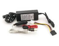 Контроллер USB 2.0 - IDE/IDE mini/SATA с БП 12V. BOX