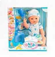 Пупс Baby Born BL014E-S, 8 функций, одежда и 8 аксессуаров, высота 42 см, 3+