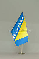 Флажок Боснии и Герцоговины 13,5*25 см., плотный атлас