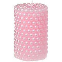 Свеча семейный очаг Розовая, 10 см