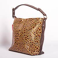 Сумка-мешок мягкая лаковая коричневая №1371bn3