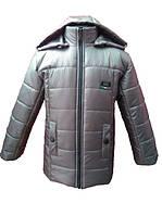 Стильная зимняя куртка для мальчика(шоколад). 116, 122, 128, 140