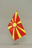 Флажок Македонии 13,5*25 см., плотный атлас