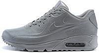 Мужские кроссовки Nike Air Max 90 VT Tweed (Найк Аир Макс) кожаные серые