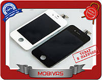 Модуль LCD + Touchscreen Apple iPhone 4/4S черный