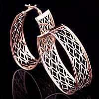 Золотые женские ажурные сережки