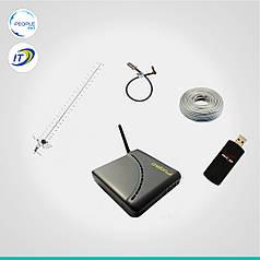 "Комплект 3G Интертелеком ""Базовый"" до 3,1 Мб/с (Unefon MX-001 + Novatel U760 + антенна 24 дБ)"