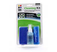 Набор чистящий GCL-1026 4 в 1. жидкость 60 мл. нейлоновая щетка. резиновая груша. микрофибра. блистер