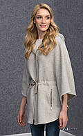 Женский теплый пончо на молнии серого цвета. Модель Virgina Zaps, коллекция осень-зима 2016-2017.