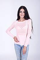 Вязаный женский свитер ажурный в расцветках 42,44