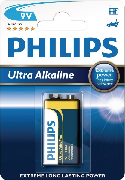 Батарейка PHILIPS ULTRA Alcaline  9V