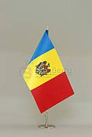 Флажок Молдавии 13,5*25 см., плотный атлас