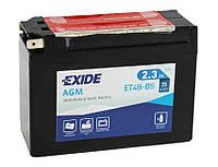 Аккумулятор Exide 12V 2.3AH/35A (ET4B-BS)