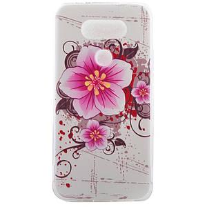 Чехол накладка для LG G5 H845 силиконовый, Аниме цветы