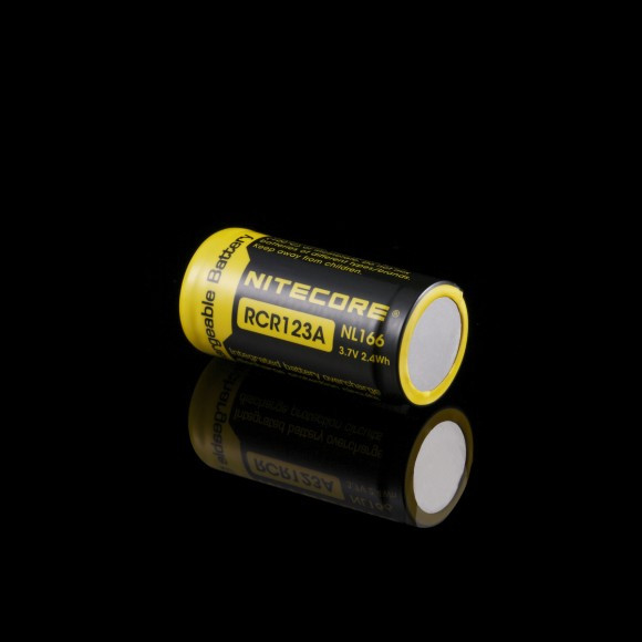 Літієвий акумулятор Li-Ion CR123A Nitecore NL166 3.7 V (650mAh), захищений