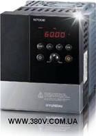 Трехфазный векторный частотный преобразователь HYUNDAI N700E-004HF. 0,4 кВт, 1,8А, 380-480В