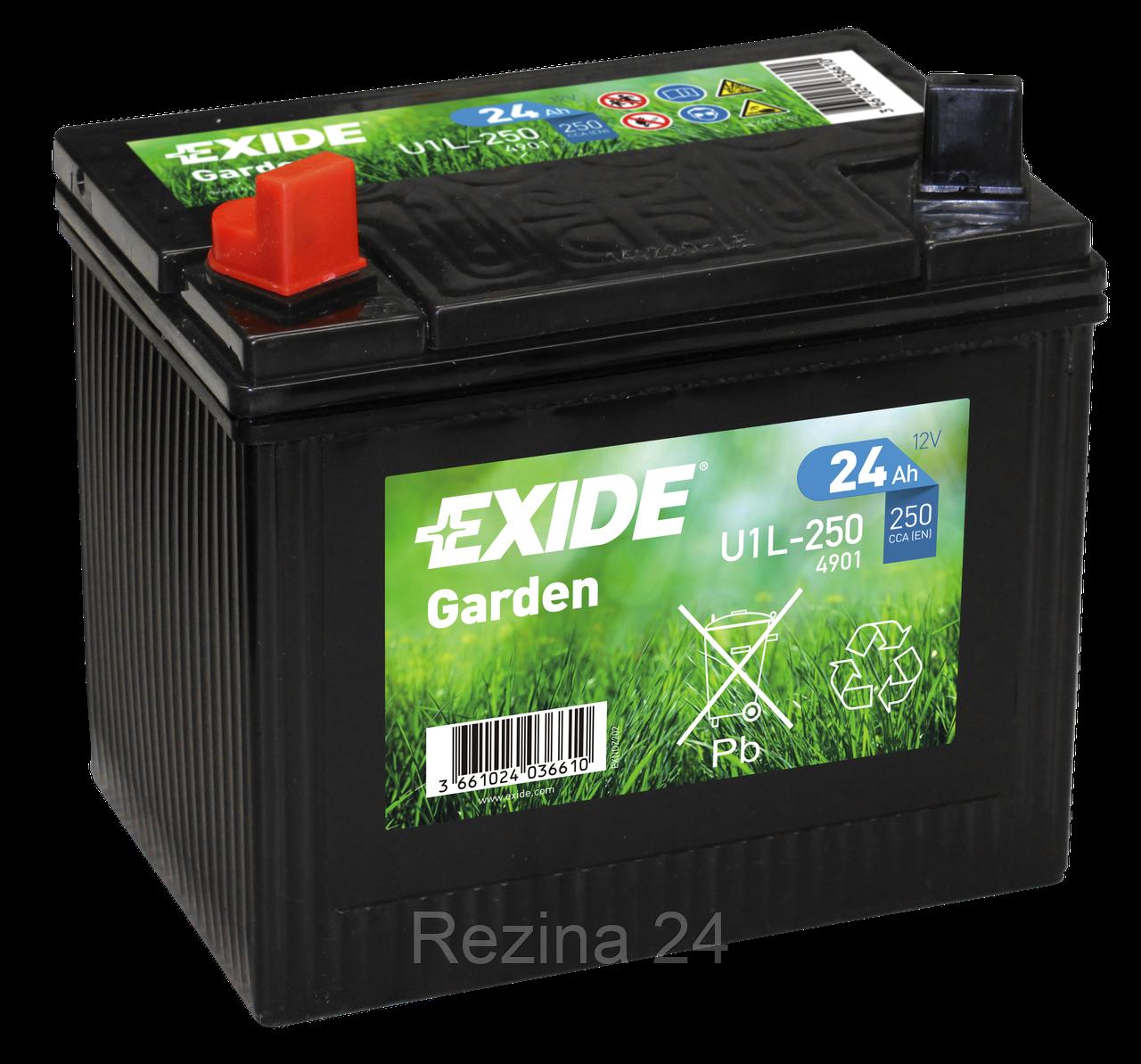 Аккумулятор Exide 12V 24AH/250A (4901 GARDEN) - Rezina 24 в Львове