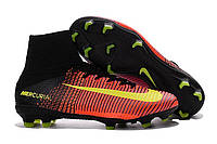 Футбольные бутсы Nike Mercurial Superfly V FG Total Crimson/Volt/Pink Blast, фото 1