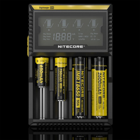 Зарядное устройство Nitecore Digicharger D4 с LED дисплеем (4 канала)