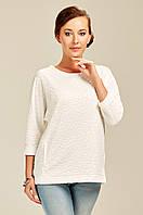 Нарядная белая фактурная блузка