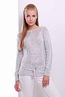 Женский свитер светло-серого цвета