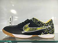 Футзалки (бампы) Nike Tiempo IC Black/Volt
