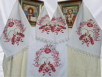 Рушник под икону с вышивкой «Пташки кохання»
