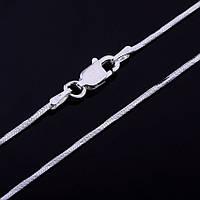 Серебряная цепочка плетение Снейк