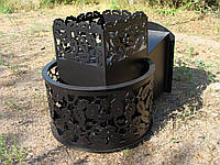 """Дровяная печь для парной """"Каменка"""" модель №3 (с выносом, со стеклом)"""