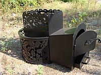 """Дровяная печь для парной """"Каменка"""" модель №3 (с выносом, без стекла)"""