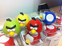 Плеер MP3 Angry Birds синий птичка. зарядка - mini USB. слот под microSD