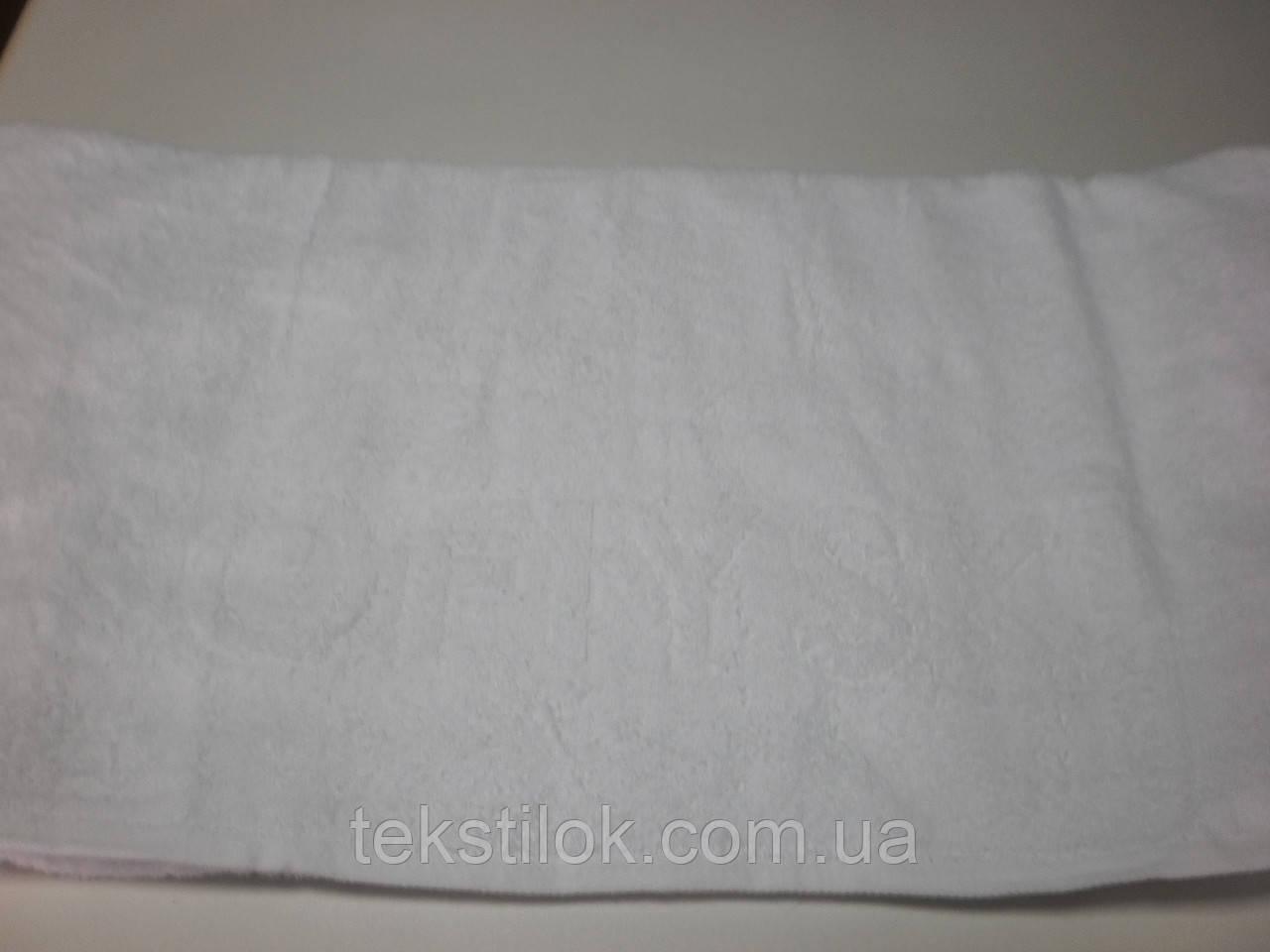 Полотенце белое лого жекарт