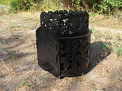 """Дровяная печь для бани """"Каменка без выноса без стекла"""", 8мм, фото 2"""