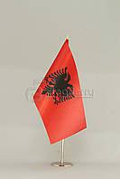 Флажок Албании 13,5*25 см., плотный атлас, фото 1