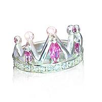 """Серебряное кольцо """"Царица"""" с розовыми фианитами"""