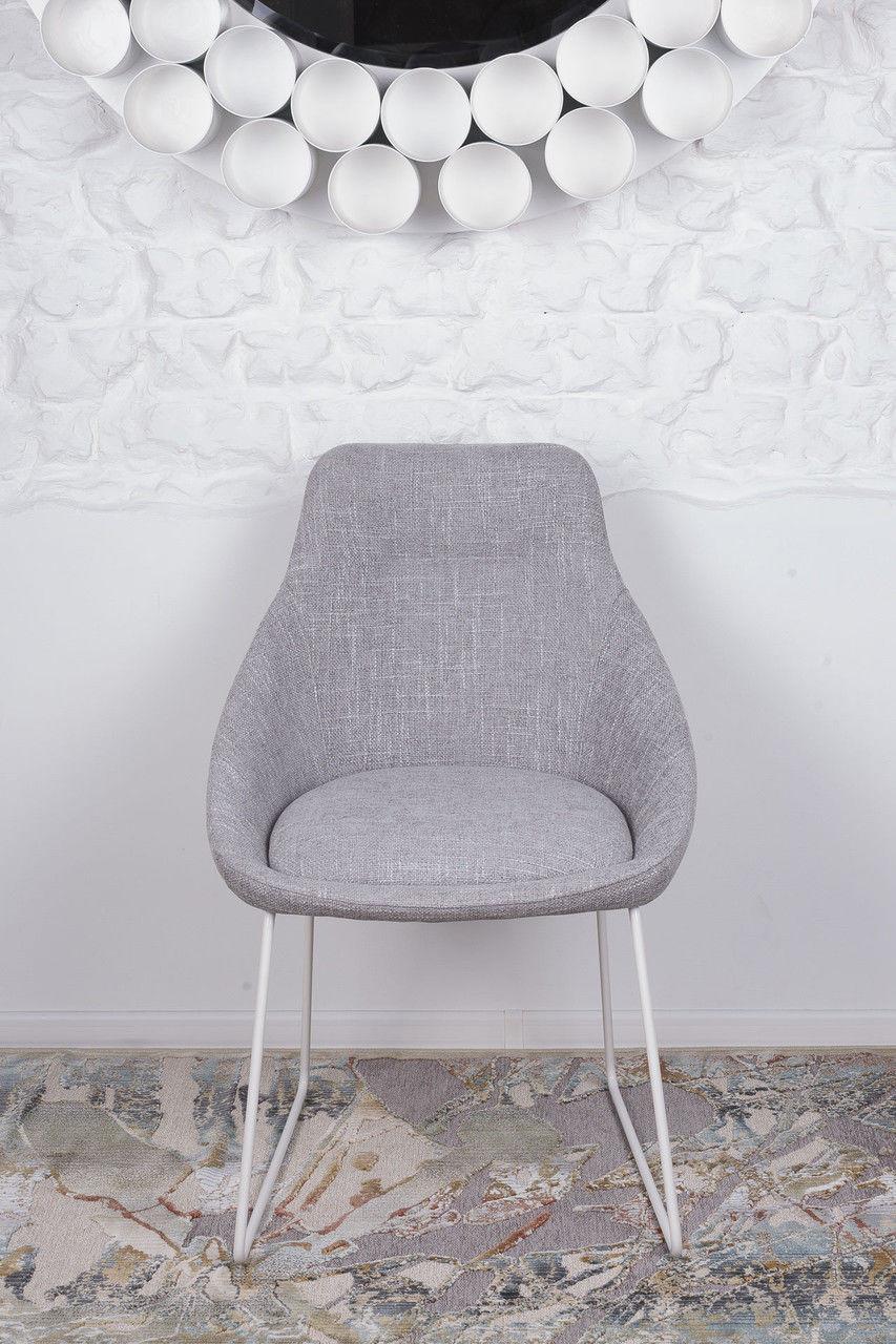 Стул обеденный модерн мягкий  VITORIA   Nicolas (Витория), светло-серый