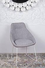 Стул обеденный модерн мягкий  VITORIA   Nicolas (Витория), светло-серый, фото 2
