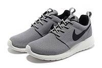 """Кроссовки Nike Roshe Run """"Grey Black"""" - """"Серые Черные"""" (Копия ААА+), фото 1"""